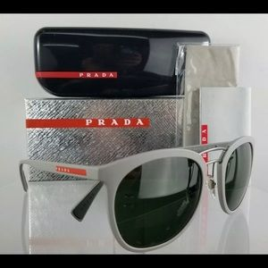 Brand New Authentic Prada SPS 04S Grey Sunglasses